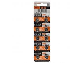Baterie alkalická, LR43, 1.5V, Maxell, blistr, 10-pack