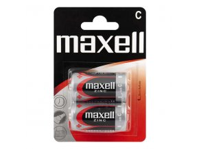 Baterie zinková, malý monočlánek, C, 1.5V, Maxell, blistr, 2-pack