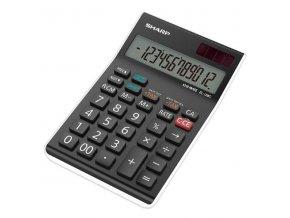Sharp Kalkulačka EL-128C, šedá-bílá, stolní