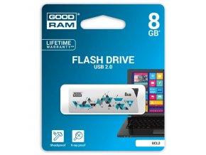 Goodram USB flash disk, USB 2.0, 8GB, UCL2, bílý, UCL2-0080W0R11