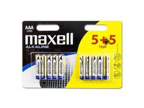 Baterie alkalická, AAA, 1.5V, Maxell, blistr, 10-pack