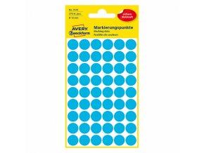 Avery Zweckform etikety 12mm, modré, 54 etiket, značkovací, baleno po 5 ks, 3142, pro ruční popis