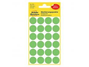Avery Zweckform etikety 18mm, neon zelené, 24 etiket, značkovací, baleno po 4 ks, 3174, pro ruční popis