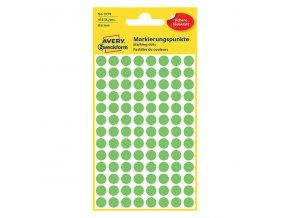 Avery Zweckform etikety 18mm, neon zelené, 104 etiket, značkovací, baleno po 4 ks, 3179, pro ruční popis