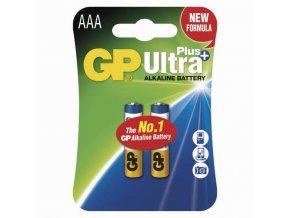 Baterie alkalická, AAA, 1.5V, GP, blistr, 2-pack, Ultra Plus