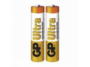 Baterie alkalická, AAA, 1.5V, GP, fólie, 2-pack, Ultra