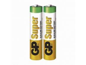 Baterie alkalická, AAA, 1.5V, GP, fólie, 2-pack, Super