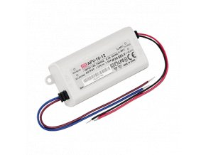 APV-16-12  12V/16W CV Meanwell LED DRIVER IP42, 8595209952981