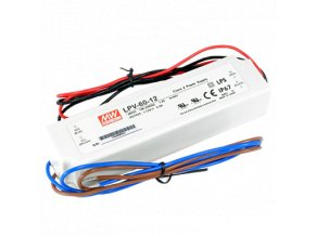 LPV-60-12V Meanwell LED DRIVER IP67, 8595209946980