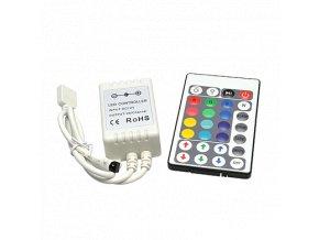 LED IR RGB controller DC12V 3x2A+28 tlač. klávesnice, 8595209916365