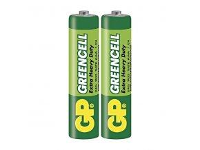 Baterie zinkochloridová, AAA, 1.5V, GP, folie, 2-pack