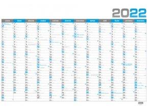 Kalendář 22N/BKA4 Nástěnný roční - B1 - modrý  964x670