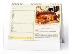 Kalendář 22S/BSD8 České tradiční recepty  210x150