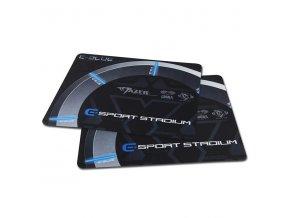 Podložka pod myš, Gaming Arena, herní, černo-šedá, 26x21x0,2cm, E-Blue, baleno v sáčku
