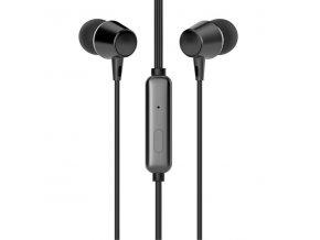 HP DHE-7000, sluchátka s mikrofonem, ovládání hlasitosti, černá, špuntová typ 3.5 mm jack