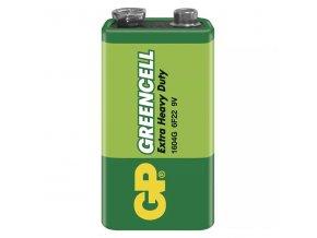 Baterie zinkochloridová, 9V, 9V, GP, fólie, 1-pack, Greencell