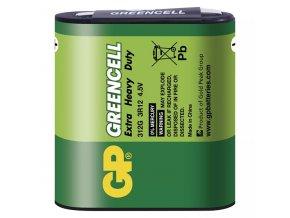 Baterie zinkochloridová, 3R12, 4.5V, GP, fólie, 1-pack, Greencell