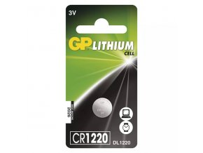 Baterie lithiová, CR1220, 3V, GP, blistr, 1-pack
