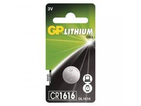 Baterie lithiová, CR1616, 3V, GP, blistr, 1-pack