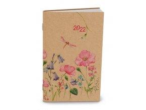 Diář.22 BTA2-1 Týdenní - Alois - kraft - 90x150 Luční květy