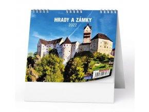 Kalendář 22S/BSL1 Hrady, zámky a památky ČR  165x135