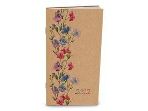 Diář.22 BMH2-1 Halina -měsíční Květiny 90x150