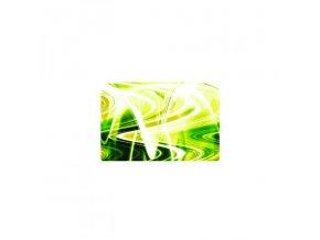 """Samolepka 17"""", abstrakce - zeleno-žluté vlny, matná, Logo, na notebook"""