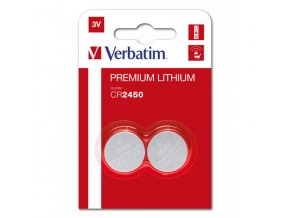 Baterie lithiová, CR2450, 3V, Verbatim, blistr, 2-pack, 49938