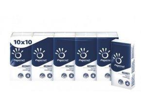 Kapesníky papírové-balení 10x10ks  4-vrstvé PAPERNET premium
