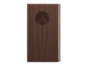 Diář.22 BTJk65-7 Týdenní  kapesní  Jakub - wood hnědá
