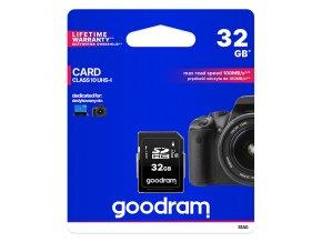 Goodram Secure Digital Card, 32GB, SDHC, S1A0-0320R12, UHS-I U1 (Class 10)