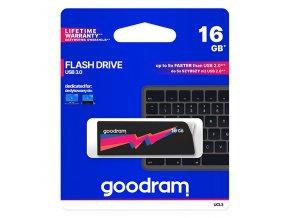 Goodram USB flash disk, 3.0, 16GB, UCL3, černý, UCL3-0160K0R11, podpora OS Win 7, nové papírové balení