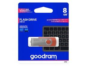 Goodram USB flash disk, 3.0, 8GB, UTS3, červený, UTS3-0080R0R11