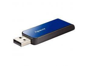 Apacer USB flash disk, USB 2.0, 16GB, AH334, modrý, AP16GAH334U-1, USB A, s výsuvným konektorem