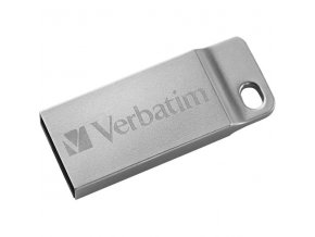 Verbatim USB flash disk, USB 2.0, 16GB, Metal Executive, Store N Go, stříbrný, 98748, USB A, s poutkem