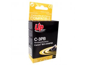 UPrint kompatibilní ink s BCI6BK, black, 14ml, C-3PB, pro Canon S800, 820, 820D, 830D, 900, 9000, i950