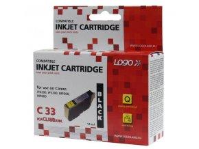 Logo kompatibilní ink s CLI8BK, black, 14ml, s čipem, pro Canon iP4200, iP5200, iP5200R, MP500, MP800