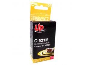 UPrint kompatibilní ink s CLI521M, magenta, 450str., 10ml, C-521M, pro Canon iP3600, iP4600, MP620, MP630, MP980, s čipem