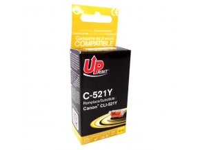UPrint kompatibilní ink s CLI521Y, yellow, 510str., 10ml, C-521Y, pro Canon iP3600, iP4600, MP620, MP630, MP980, s čipem