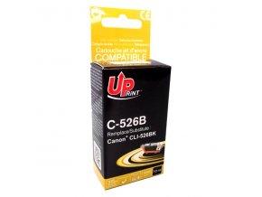 UPrint kompatibilní ink s CLI526BK, black, 10ml, C-526B, s čipem typ pro Canon Pixma  MG5150, MG5250, MG6150, MG8150