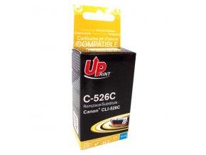 UPrint kompatibilní ink s CLI526C, cyan, 10ml, C-526C, s čipem typ pro Canon Pixma  MG5150, MG5250, MG6150, MG8150