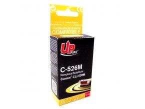 UPrint kompatibilní ink s CLI526M, magenta, 10ml, C-526M, s čipem typ pro Canon Pixma  MG5150, MG5250, MG6150, MG8150