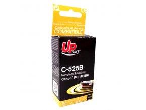UPrint kompatibilní ink s PGI525PGBK, black, 20ml, C-525B, pro Canon Pixma  MG5150, 5250, 6150, 8150, s čipem