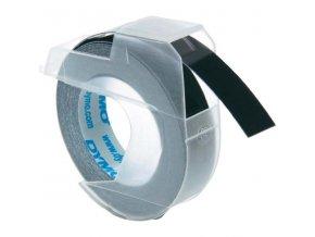 Dymo originální páska do tiskárny štítků, Dymo, S0898130, černý podklad, 3m, 9mm, baleno po 10 ks, cena za 1 ks, 3D