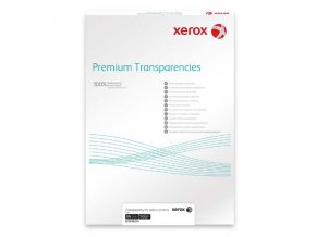 Xerox, fólie, transparentní, A4, 100 mic. 50ks, pro barevné kopírování a laserový tisk, 003R98205