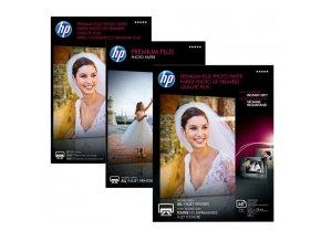 "HP Premium Plus Glossy Photo Paper, foto papír, k tisku bez okrajů typ lesklý, bílý, 13x18cm, 5x7"", 300 g/m2, 20 ks, CR676A, inkou"