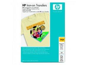 HP nažehlovací fólie, bílá, A4, 170 g/m2, 12 ks, pro inkoustové tiskárny