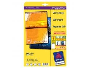 Avery Zweckform, DVD papírový přebal, bílý, 273 x 183 mm, 25 listů, pro inkoustové tiskárny, O