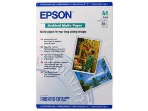Epson Archival Matte Paper, bílá, 50, ks C13S041342, pro inkoustové tiskárny, 210x297mm (A4), A4, 190 g/m2