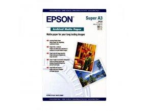 Epson Archival Matte Paper, bílá, 50, ks C13S041340, pro inkoustové tiskárny, 330x480mm (A3+), A3+, 192 g/m2